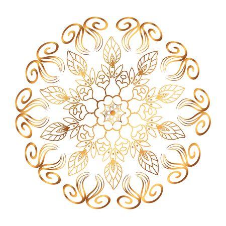 golden mandala victorian style vector illustartion design Illusztráció