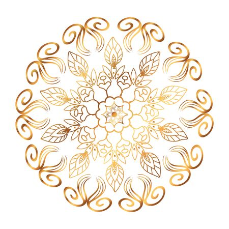 golden mandala victorian style vector illustartion design Illustration