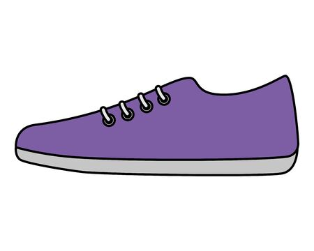 sport shoe isolated icon vector illustration design Çizim