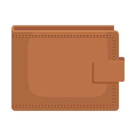 Portefeuille argent icône isolé vector illustration design