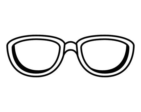 summer sunglasses accessory icon vector illustration design
