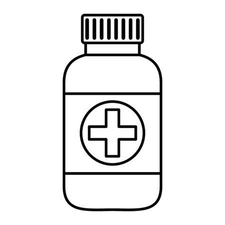 bottle drugs isolated icon vector illustration design Stock fotó - 129790514