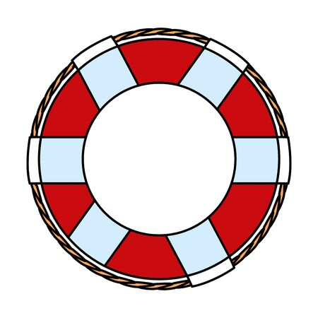float lifeguard maritime isolated icon vector illustration design 스톡 콘텐츠 - 129678256