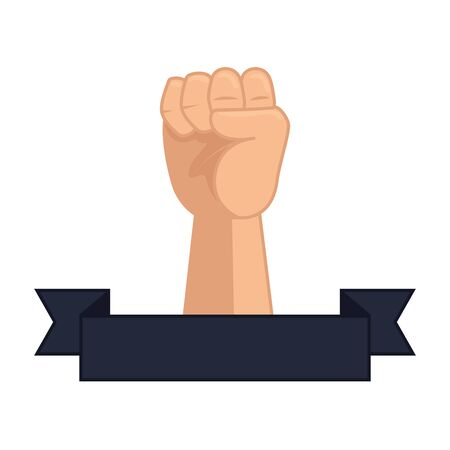 hand up fist icon vector illustration design Banco de Imagens - 129678260