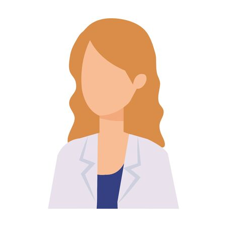 professional female doctor character vector illustration design Çizim