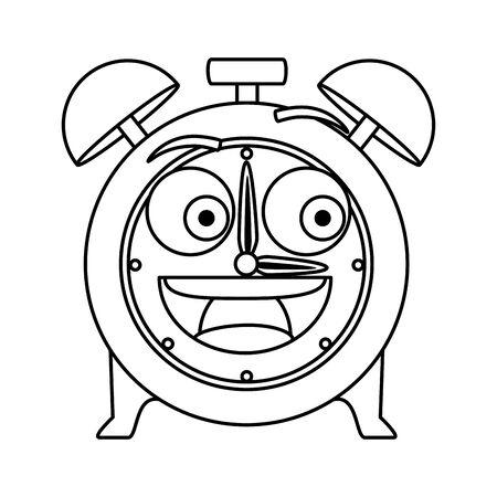 alarm clock   comic character vector illustration design Illusztráció