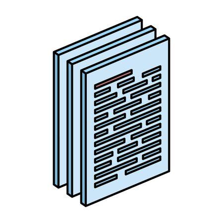 Papierdokumentdateien isoliert Symbol Vektor Illustration Design