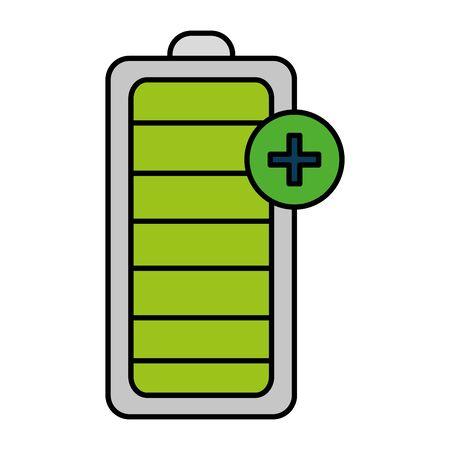 batterij energie niveau pictogram vector illustratie ontwerp Vector Illustratie
