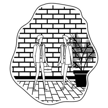 elegant young businessmen avatars characters vector illustration design Ilustração