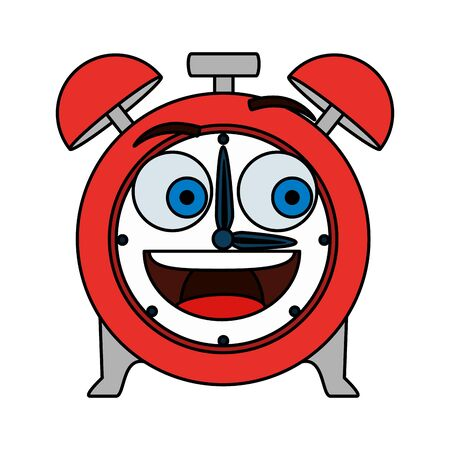 alarm clock comic character vector illustration design