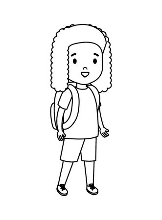 little girl kid character vector illustration design 일러스트