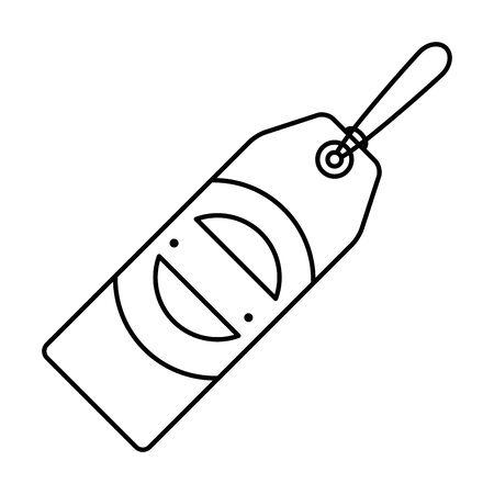 commercial tag hanging icon vector illustration design Archivio Fotografico - 129795252