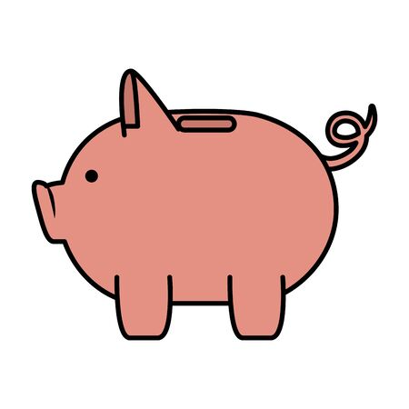 piggy money savings icon vector illustartion design