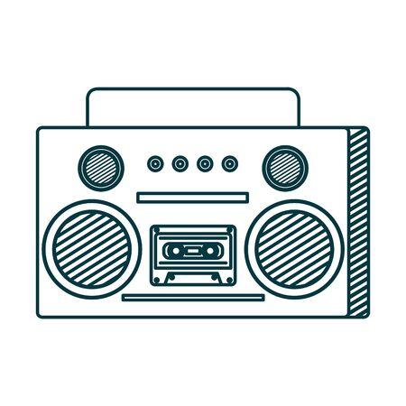 old music radio player icon vector illustration design