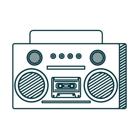 old music radio player icon vector illustration design