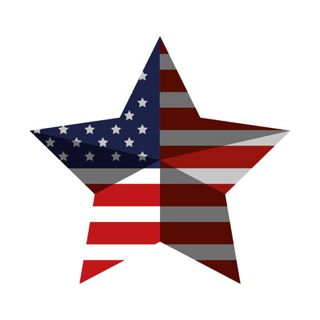 star with united states of america flag vector illustration design