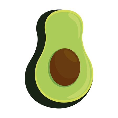 fresh avocado icon vector illustration design Ilustrace