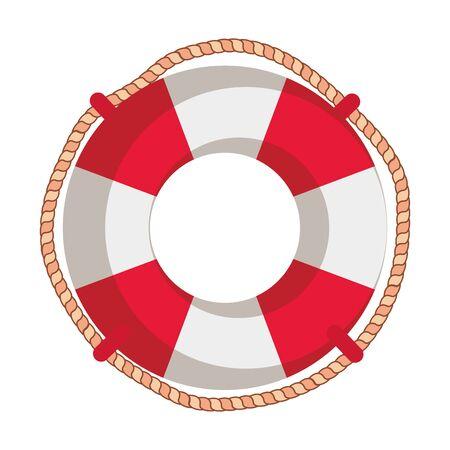 Buque flotante marino aislado icono diseño ilustración vectorial