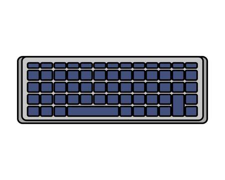 computer keyboard isolated icon vector illustration design Иллюстрация