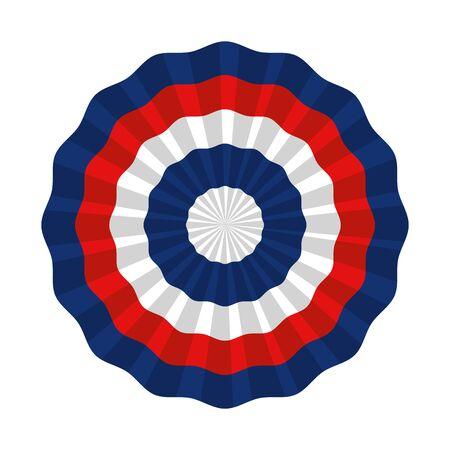 united states of america circular flag vector illustration design