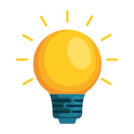 bulb light isolated icon vector illustration design Stock Illustratie