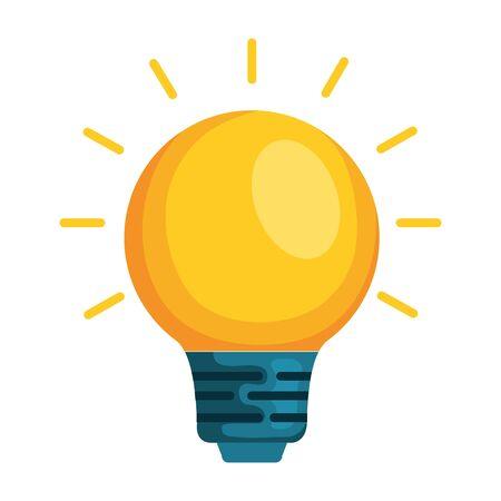 Diseño aislado del ejemplo del vector del icono de la luz de bulbo Ilustración de vector