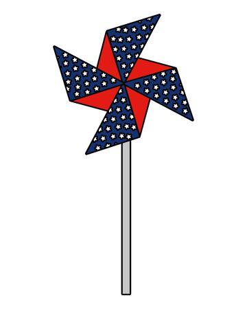 wind spin toy united states of america flag vector illustration design Иллюстрация
