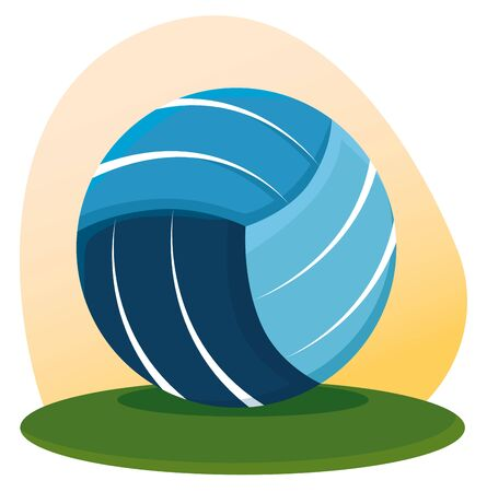volleyball ball competition and recreation game to summer sport vector illustration