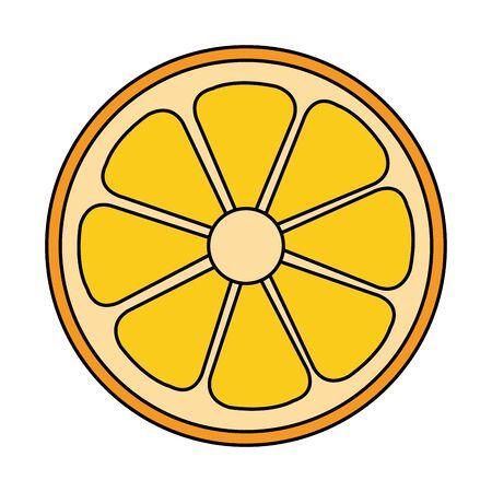half orange citrus fruit fresh icon vector illustration design  イラスト・ベクター素材