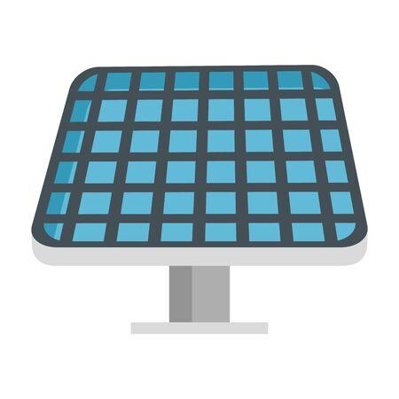 Diseño de ilustración de vector de ecología de energía de panel solar
