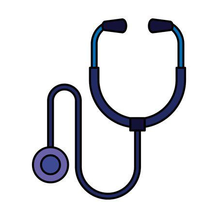 stethoscope medical isolated icon vector illustration design Çizim