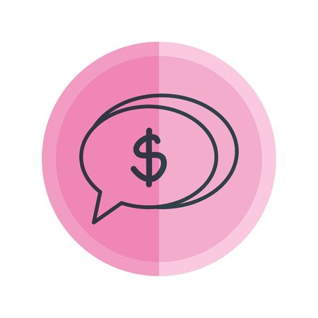 speech bubble with dollar symbol vector illustration design