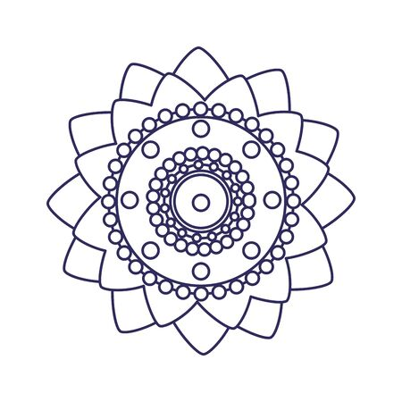decoratief mandala etnisch boho-stijl vectorillustratieontwerp Vector Illustratie