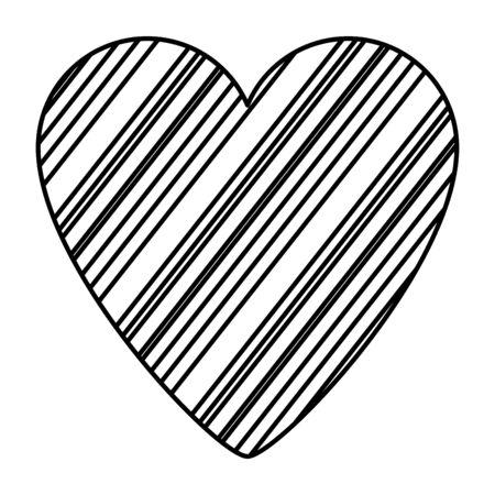 heart love silhouette isolated icon vector illustration design
