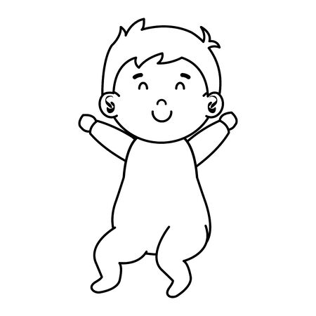 little male baby character vector illustration design