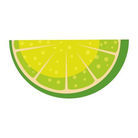 lemon citrus fruit icon vector illustration design Standard-Bild - 129861258