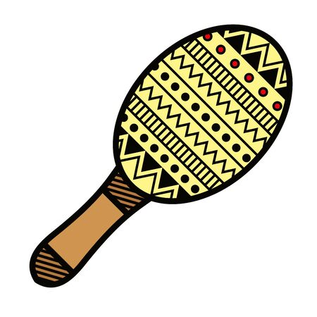 maracas tropical instrument isolated icon vector illustration design Illustration