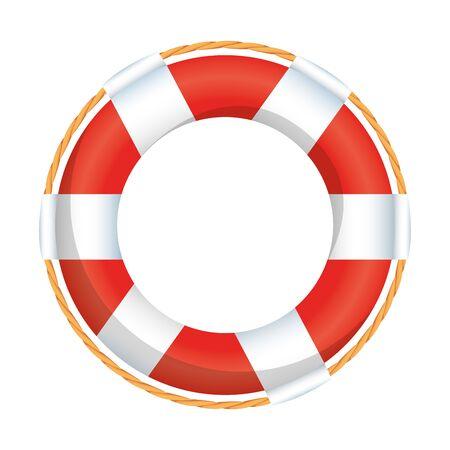 Flotador salvavidas marítimo icono aislado diseño ilustración vectorial