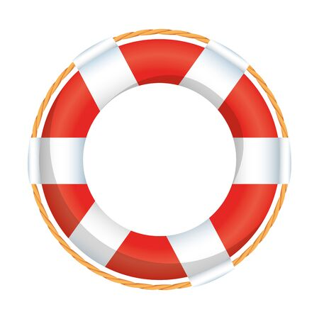 galleggiante bagnino marittimo icona isolato illustrazione vettoriale design