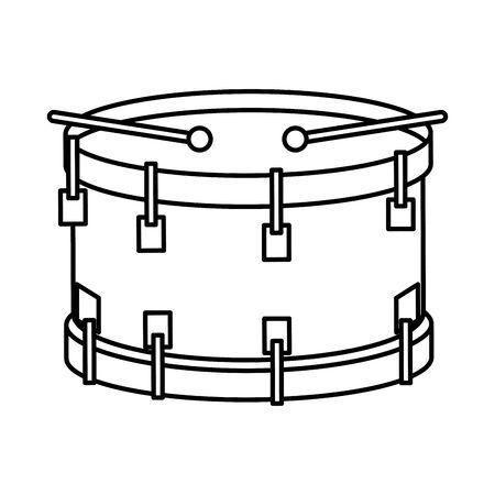 drum musical instrument icon vector illustration design Illustration