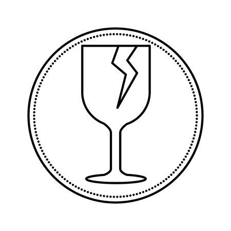 cup break fragile symbol vector illustration design Illusztráció