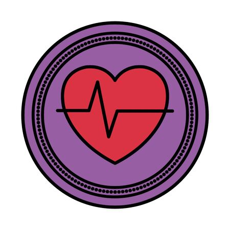 heart cardio medical isolated icon vector illustration design Banque d'images - 129782570