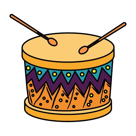 wooden drum instrument icon vector illustration design