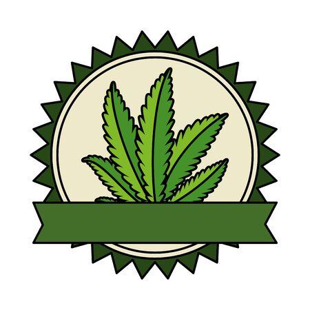 cannabis plant leafs nature frame vector illustration design 版權商用圖片 - 129803022