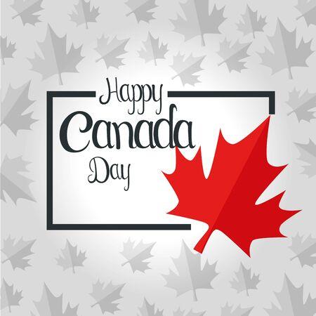 canada leaf to happy celebration holiday vector illustration 일러스트