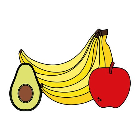 fresh vegetables and fruits healthy food vector illustration design Иллюстрация