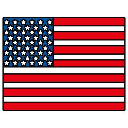 united states of america flag vector illustration design  イラスト・ベクター素材