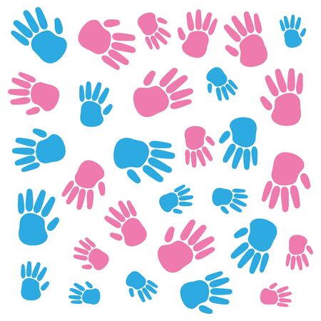 hands print colors paint icon vector illustration design