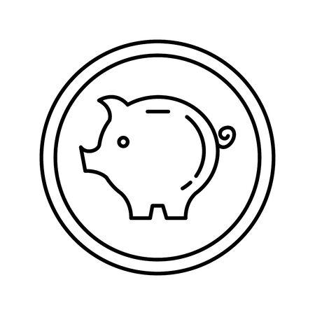 piggy savings isolated icon vector illustration design Ilustrace