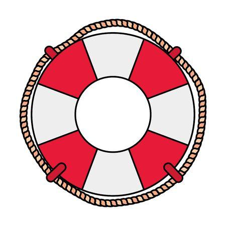 marine float ring ship isolated icon vector illustration design